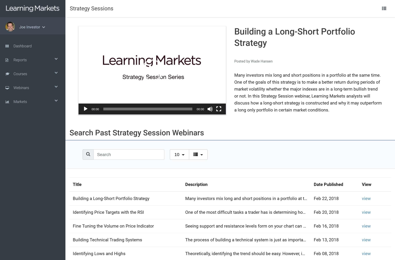 Strategy Webinars